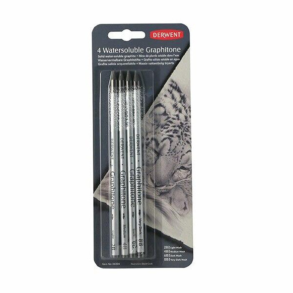 DERWENT Graphitone Pencil Assorted Pack4 X CARTON of 6 34304