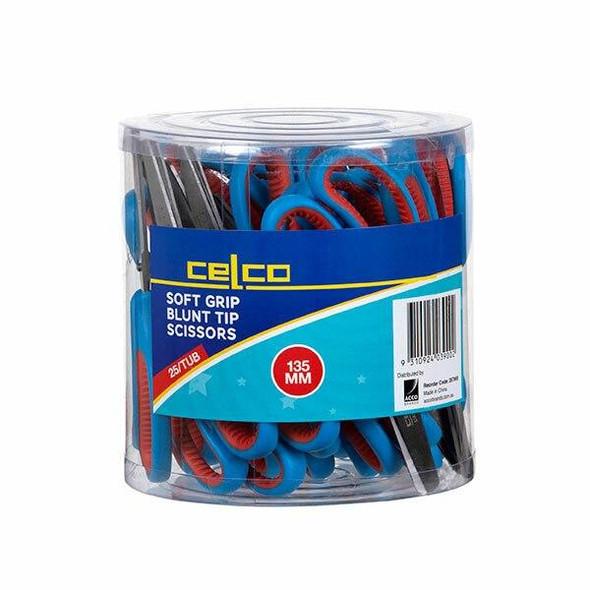 Celco Soft Grip Scissors 135mm Tub25 357900