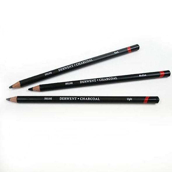 DERWENT Charcoal Pencil Light Pack12 X CARTON of 12 36301