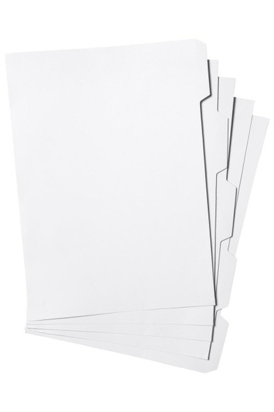 Marbig Indices and Dividers 5 Tab Manilla A4 Unpunched X CARTON of 25 37305F