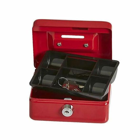 Esselte Cash Mate Box Red 374035