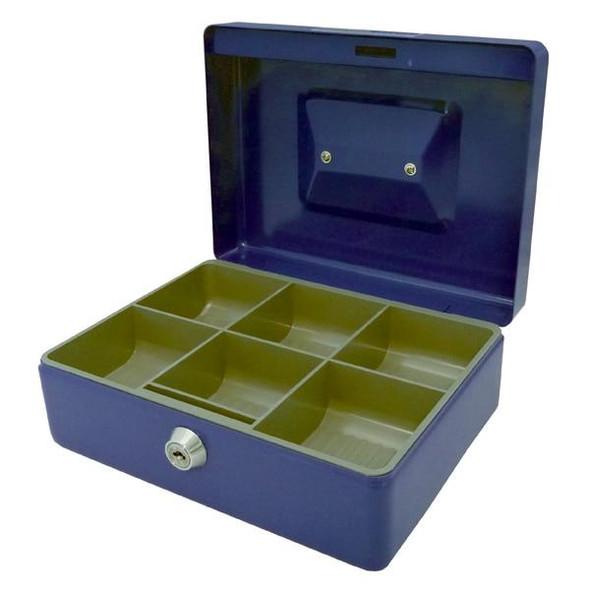 Esselte Classic Cash Box No.8 Blue 375088