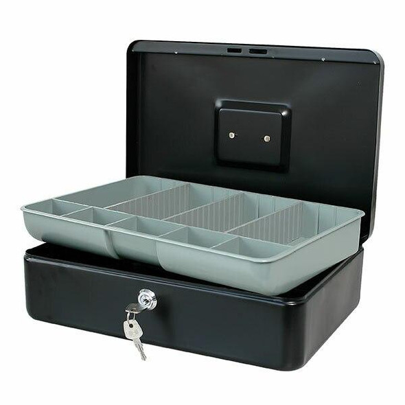 Esselte Classic Cash Box No.12 Black 375126