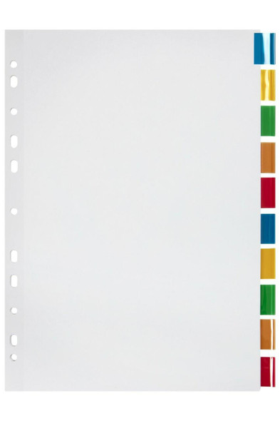 Marbig Indices and Dividers 10 Insert Tab Manilla A4 Colour X CARTON of 37645F