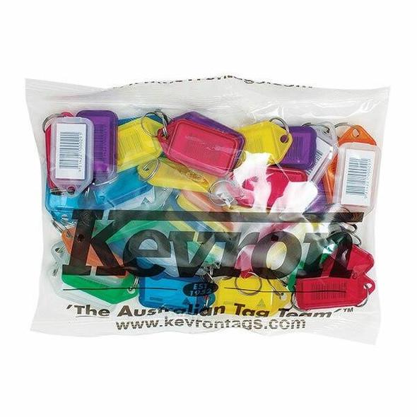 Kevron ID5 Keytags Barcoded Assorted Bag 50 37720