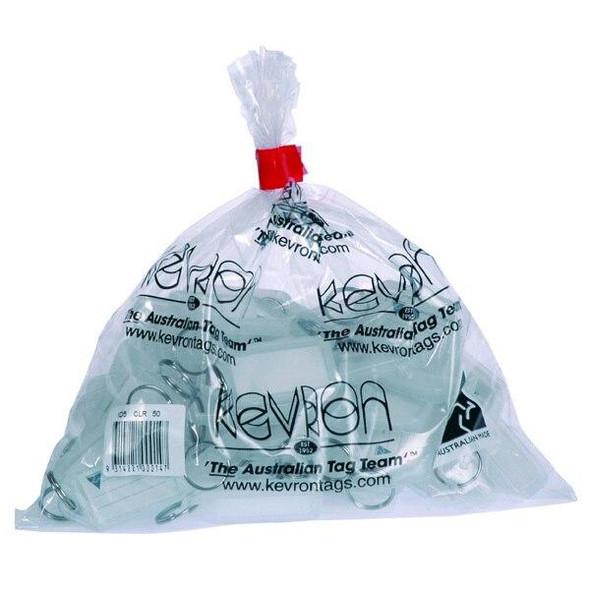 Kevron ID5 Keytags Clear Bag 50 37745