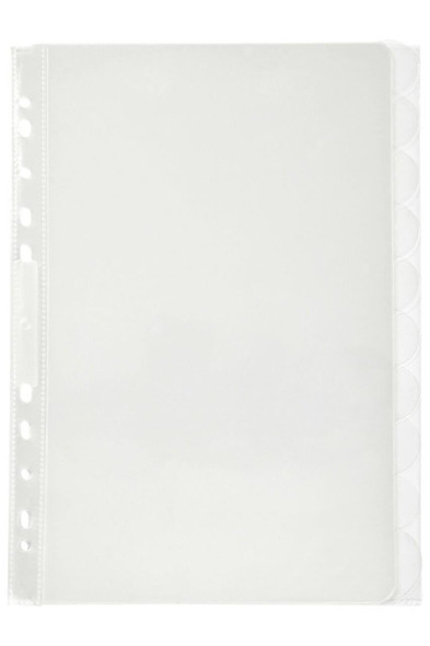 Marbig Professional Indices and Dividers 10 Tab Pp A4 Clear X CARTON of 37820