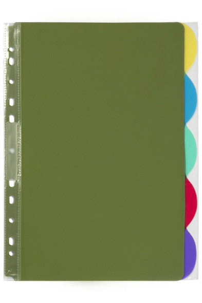Marbig Professional Indices and Dividers 5 Tab Pp A4 Multi Coloured X CARTON of 10 37835