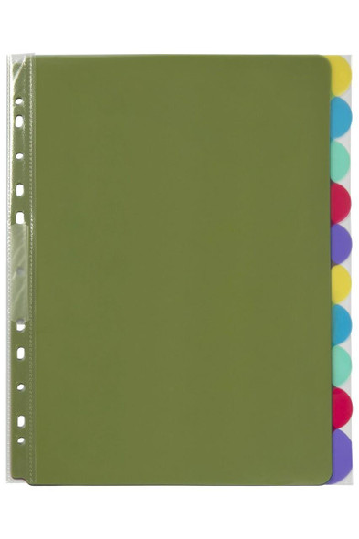 Marbig Professional Indices and Dividers 10 Tab Pp A4 Extra Wide X CARTON of 37840