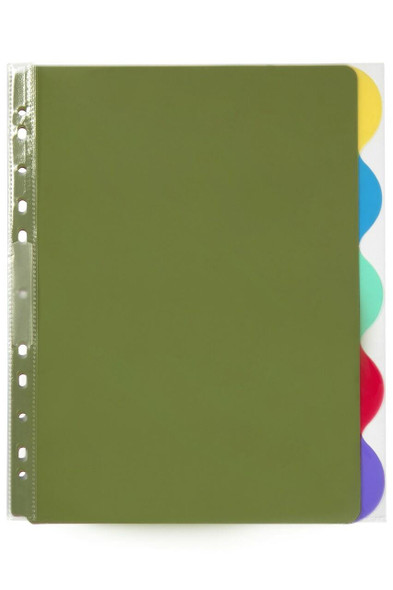 Marbig Professional Indices and Dividers 5 Tab Pp A4 Extra Wide X CARTON of 10 37845