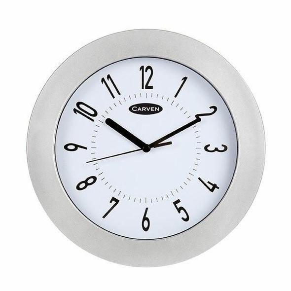 Carven Clock 250mm Silver Frame 3850025