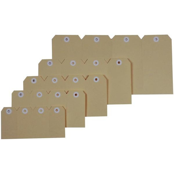 Esselte Shipping Tags No.1 35x70mm Buff 38983
