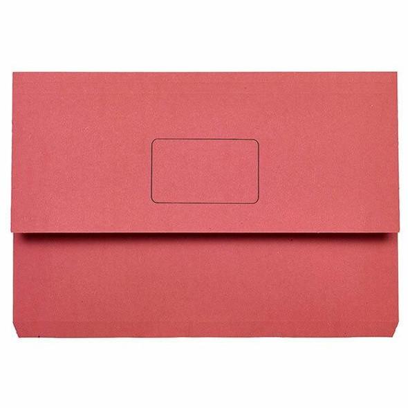 Marbig Slimpick Foolscap Document Wallet Red X CARTON of 50 4004003