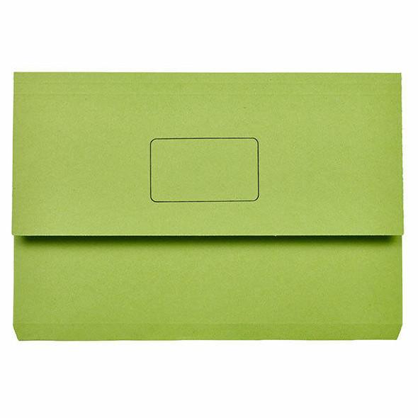 Marbig Slimpick Foolscap Document Wallet Green X CARTON of 50 4004004