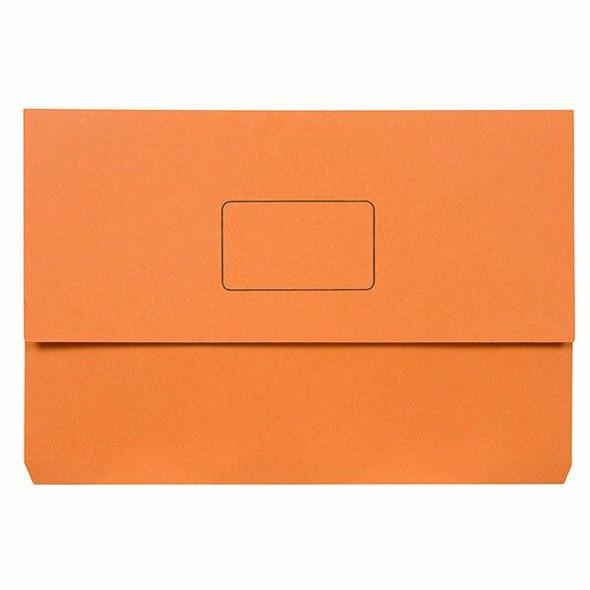 Marbig Slimpick Foolscap Document Wallet Orange X CARTON of 50 4004006