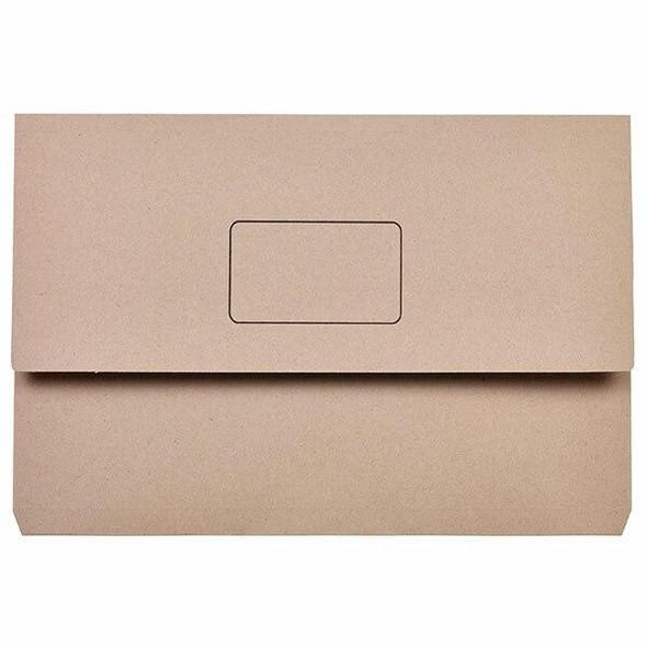 Marbig Slimpick Foolscap Document Wallet Buff X CARTON of 50 4004007