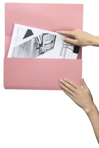 Marbig Slimpick Foolscap Document Wallet Pink X CARTON of 50 4004009
