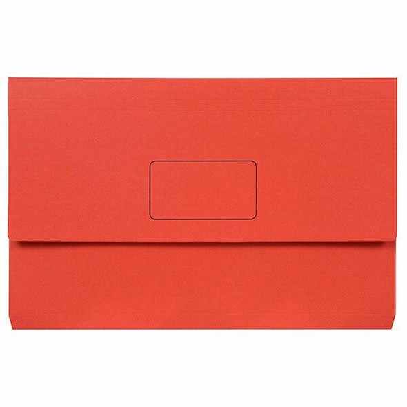 Marbig Slimpick Foolscap Document Wallet Brights Red Pack10 X CARTON of 5 4004303