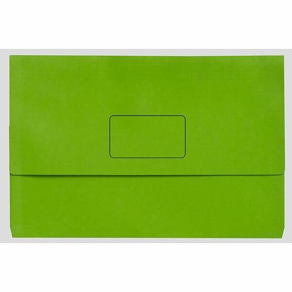 Marbig Slimpick Foolscap Document Wallet Brights Green Pack10 X CARTON of 5 4004304