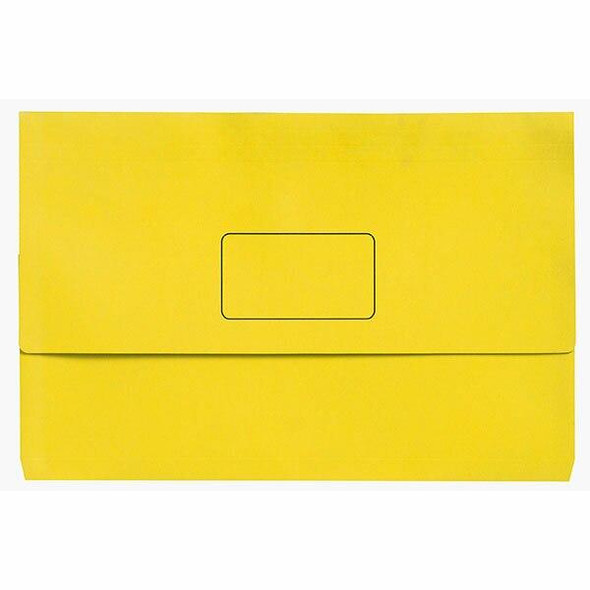 Marbig Slimpick Foolscap Document Wallet Brights Yellow Pack10 X CARTON of 5 4004305