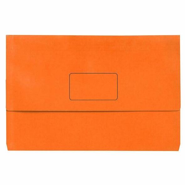 Marbig Slimpick Foolscap Document Wallet Brights Orange Pack10 X CARTON of 5 4004306