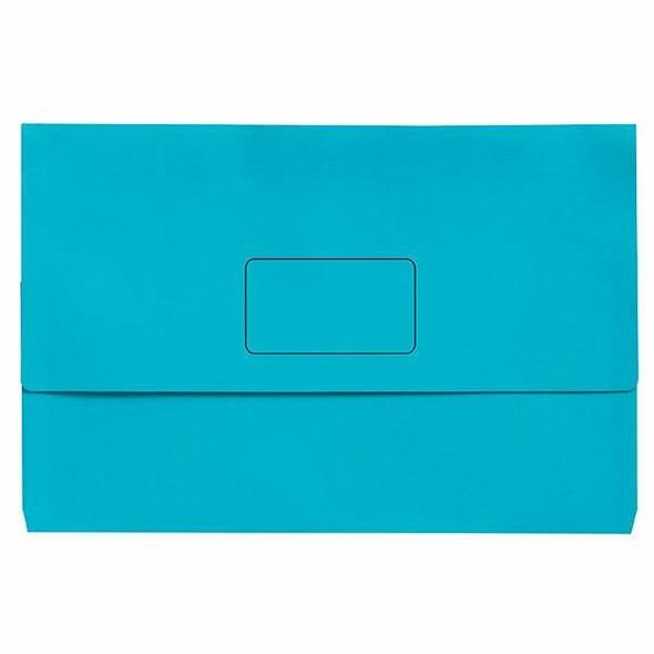 Marbig Slimpick Foolscap Document Wallet Brights Marine Pack10 X CARTON of 5 4004317