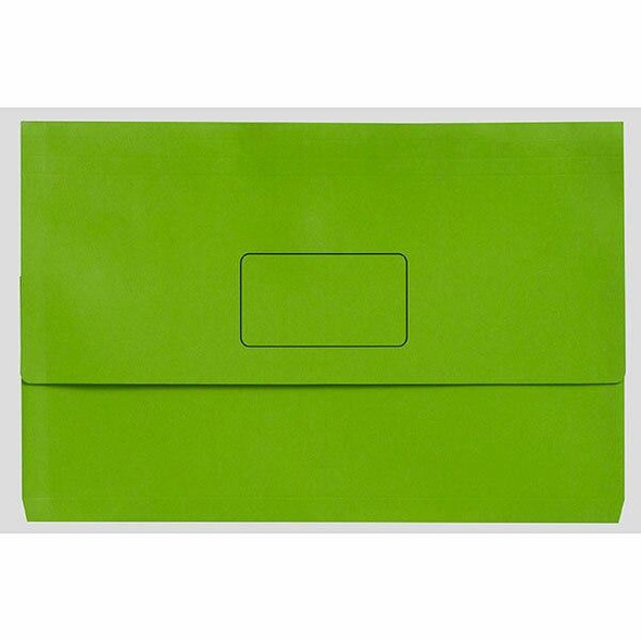 Marbig Slimpick A3 Document Wallet Brights Lime X CARTON of 20 4005504