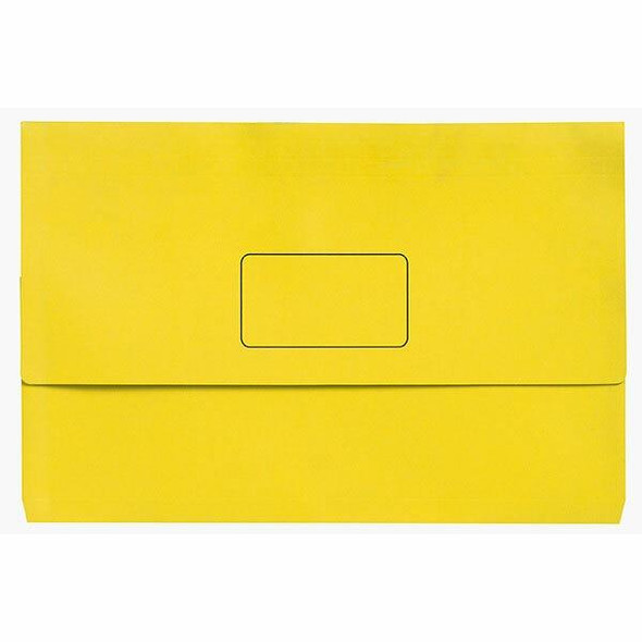 Marbig Slimpick A3 Document Wallet Brights Lemon X CARTON of 20 4005505
