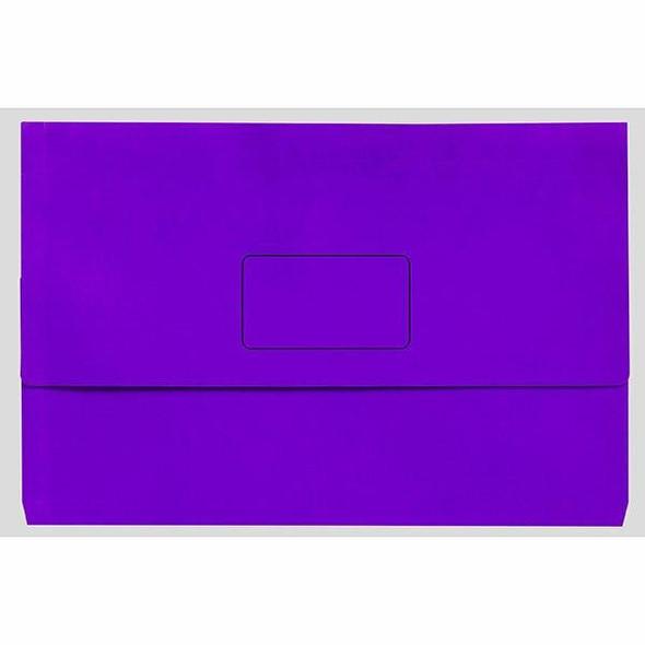 Marbig Slimpick A3 Document Wallet Brights Purple X CARTON of 20 4005519
