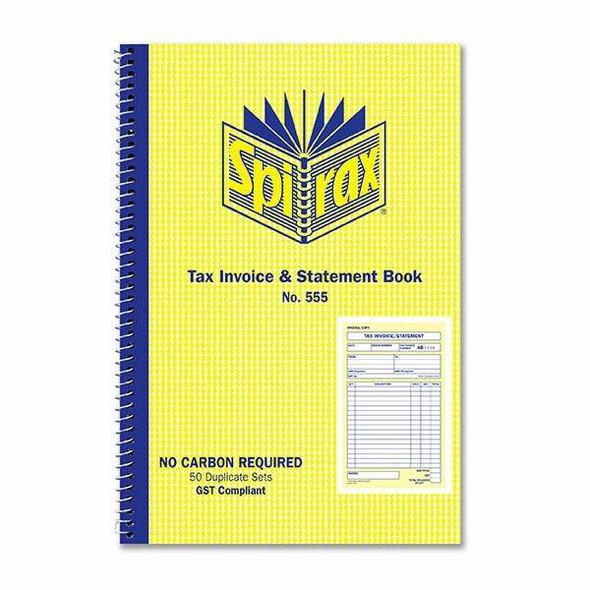 Spirax 555 Invoice And Statement Book 207x144mm X CARTON of 10 40897