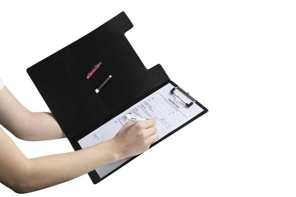 Marbig Clipfolder Pe A4 Black X CARTON of 20 4300002