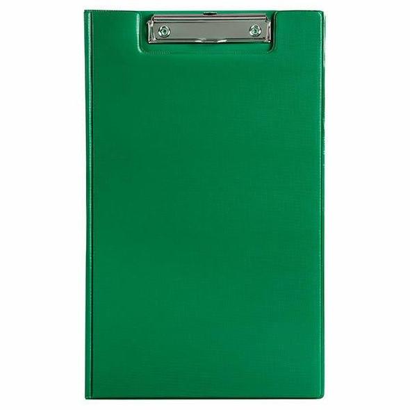 Marbig Clipfolder Pvc Foolscap Green X CARTON of 20 4300504