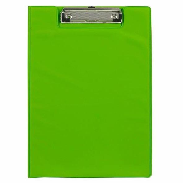 Marbig Clipfolder A4 Pe Lime X CARTON of 6 4300604A