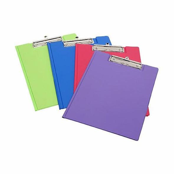 Marbig Clipfolder A4 Pe Summer Colours Assorted X CARTON of 12 4300699A