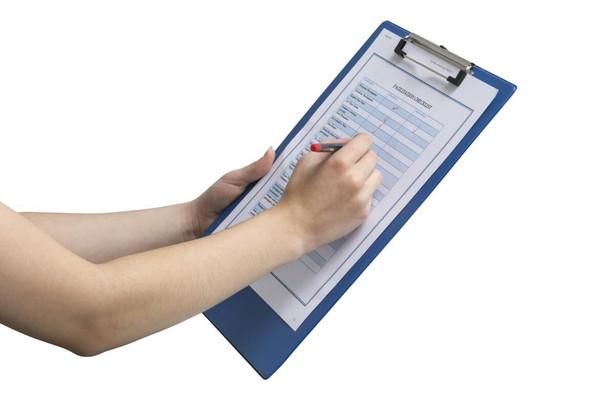 Marbig Clipboard Pe Foolscap Blue X CARTON of 20 4301001
