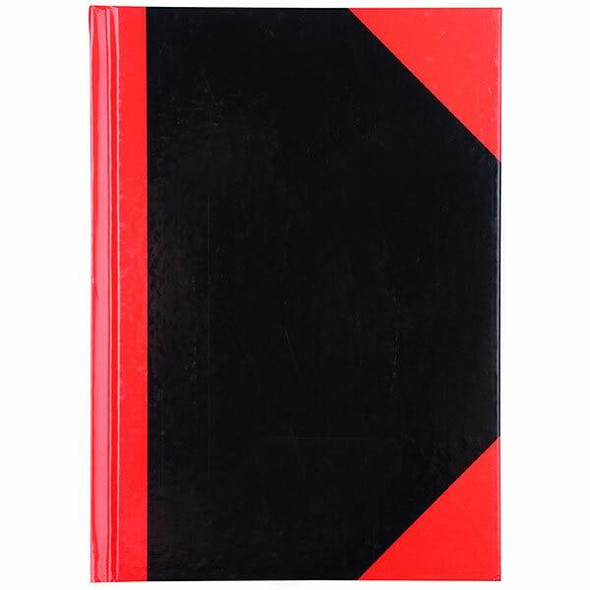 CUMBERLAND Red and Black Notebook Gloss A5 100 LeAnti-Fatigue 43108
