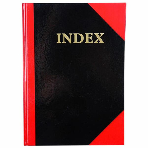 CUMBERLAND Red and Black Notebook Gloss A4 100 LeAnti-Fatigue Indexed 43114