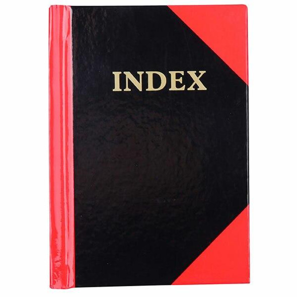 CUMBERLAND Red and Black Notebook Gloss A7 100 LeAnti-Fatigue Indexed 43128