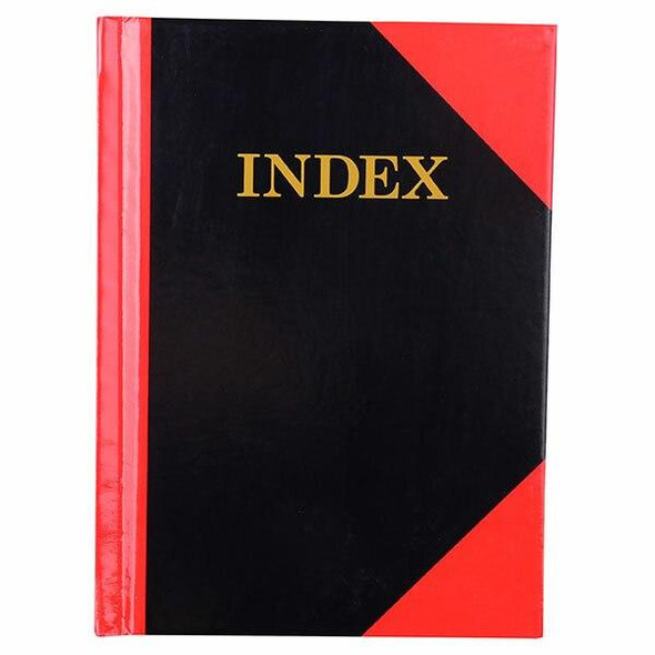 CUMBERLAND Red and Black Notebook Gloss A6 100 LeAnti-Fatigue Indexed 43129