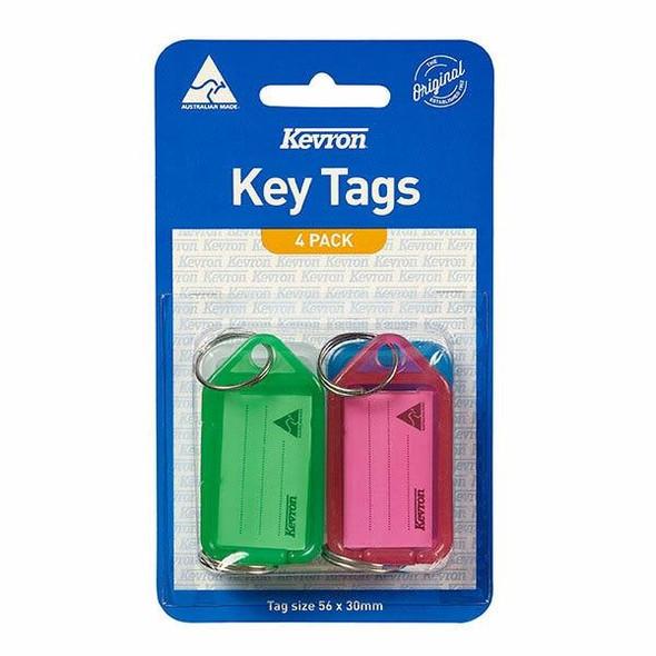 Kevron ID5 Keytags Assorted Pack 4 43989