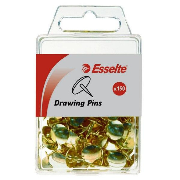 Esselte Pins Drawing Pack150 Brass 45100