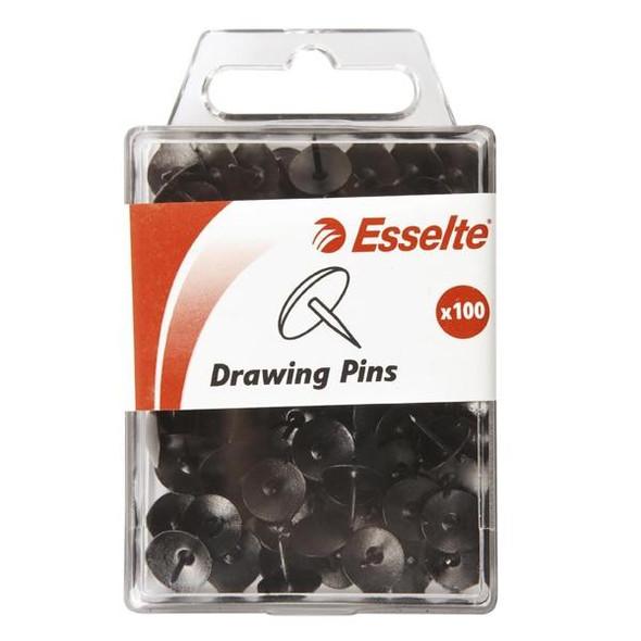 Esselte Pins Drawing Pack100 Black 45102