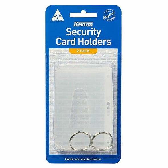 Kevron Security Card Holder Clear 45714