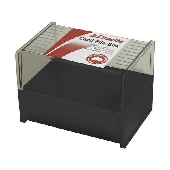 Esselte Sws Card File Box102x152 6x4 Black 45866