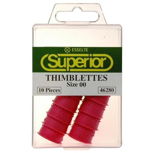 Esselte Superior Thimblettes Size 00 Box10 Pink 46280