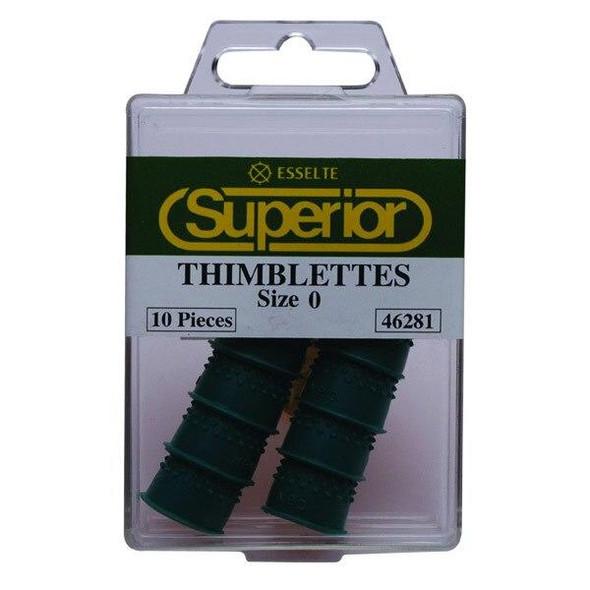 Esselte Superior Thimblettes Size 0 Box10 Green 46281