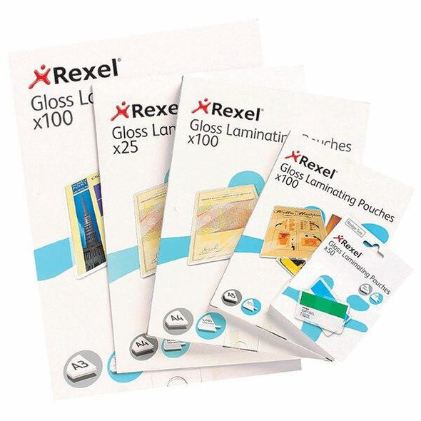 Rexel Laminating Pouch A4 100 Micronron Pack100 46310
