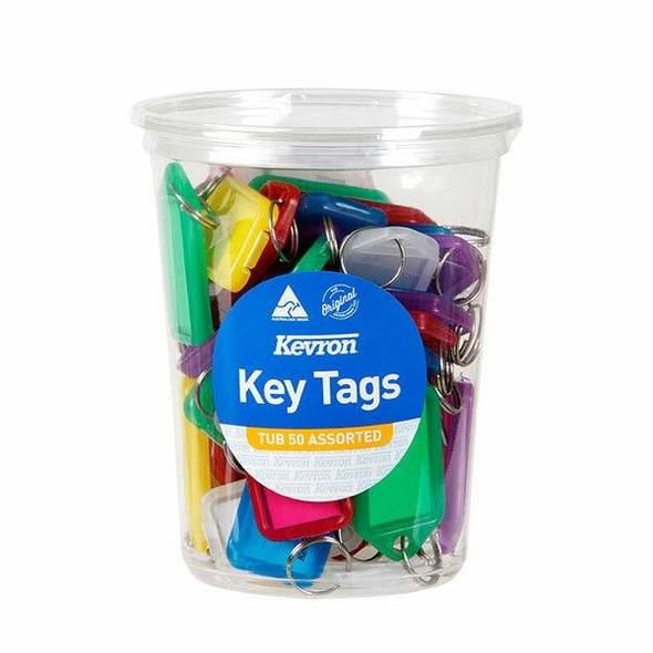 Kevron ID5 Keytags Assorted Disposable Tub 50 46952