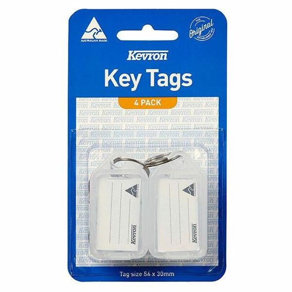 Kevron ID5 Keytags Clear Pack 4 47037