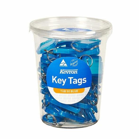 Kevron ID5 Keytags Blue Disposable Tub 50 47047